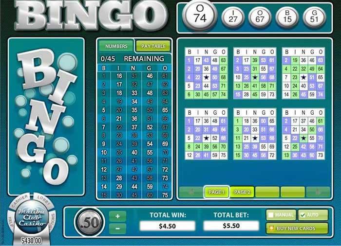 american bingo sur le casino malibu club. Black Bedroom Furniture Sets. Home Design Ideas